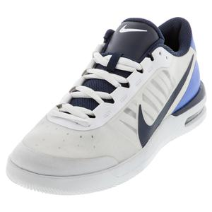 Men`s Air Max Vapor Wing MS Tennis Shoes White and Royal Pulse