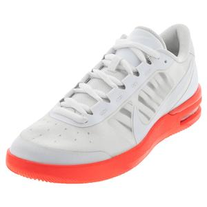 Women`s Air Max Vapor Wing MS Tennis Shoes White and Laser Crimson