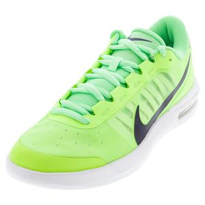 Men`s Air Max Vapor Wing MS Tennis Shoes Ghost Green and Blackened Blue