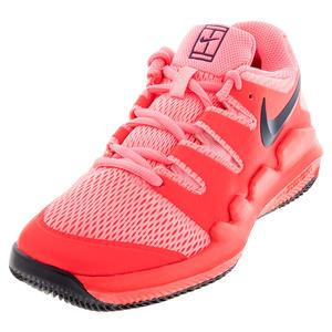 Juniors` Vapor X Tennis Shoes Laser Crimson and Pink