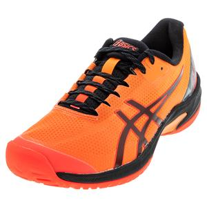 Men`s Court Speed FF Limited Edition Tennis Shoes Flash Coral and Black
