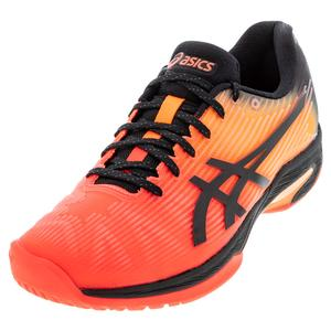 Men`s Solution Speed FF Limited Edition Tennis Shoes Flash Coral and Black