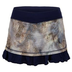 Women`s 12 Inch Tennis Skort Wild Lapis and Navy