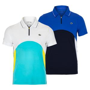 Men`s Color Block Tennis Polo