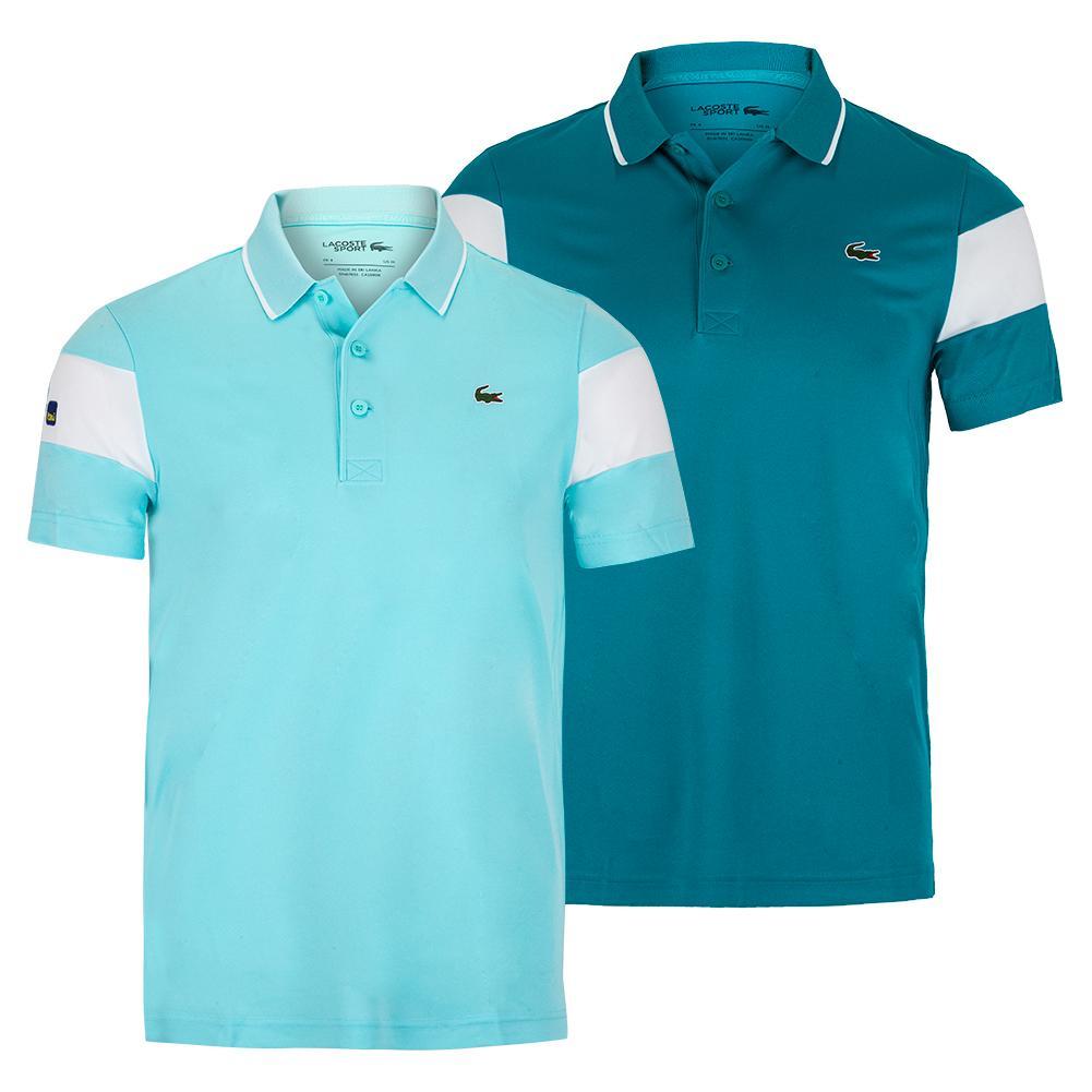Men's Miami Open Co Brand Color Block Tennis Polo
