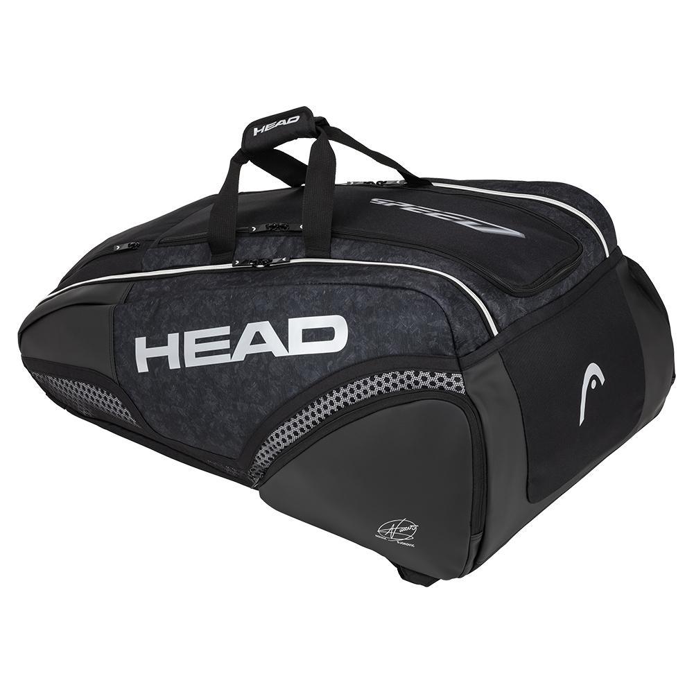 Djokovic 12r Monstercombi Tennis Bag Black And White