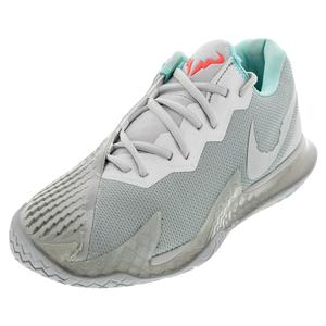Men`s Air Zoom Vapor Cage 4 Tennis Shoes Metallic Silver