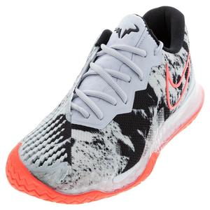 Men`s Air Zoom Vapor Cage 4 Asteroid Tennis Shoes Sky Gray and Bright Mango