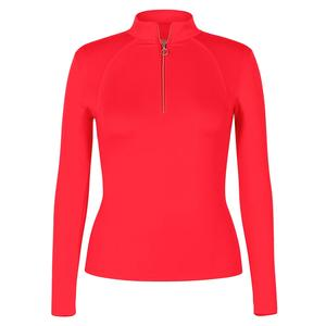 Women`s Amelia Long Sleeve Tennis Top Teaberry