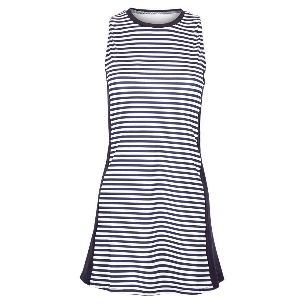Women's Sleeveless Stripe Swing Tennis Dress