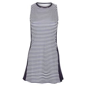 Women`s Sleeveless Stripe Swing Tennis Dress