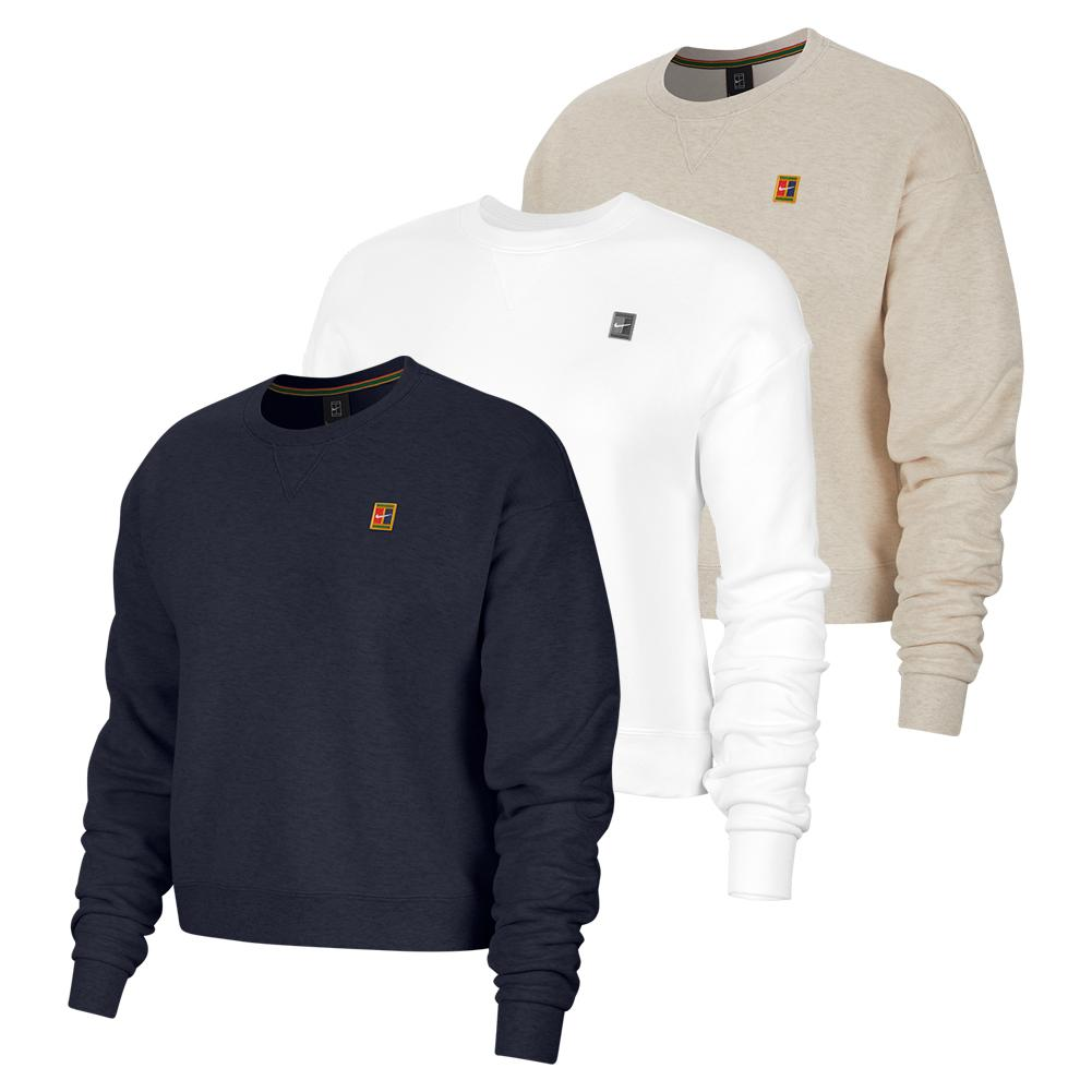 Women's Court Heritage French Terry Long Sleeve Tennis Crew