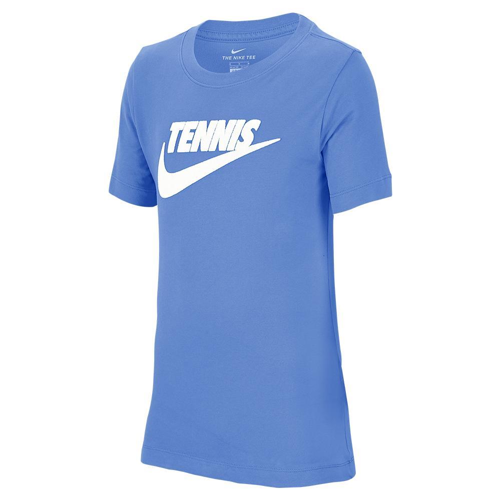 Juniors ` Court Dri- Fit Cotton Graphic Tennis Tee