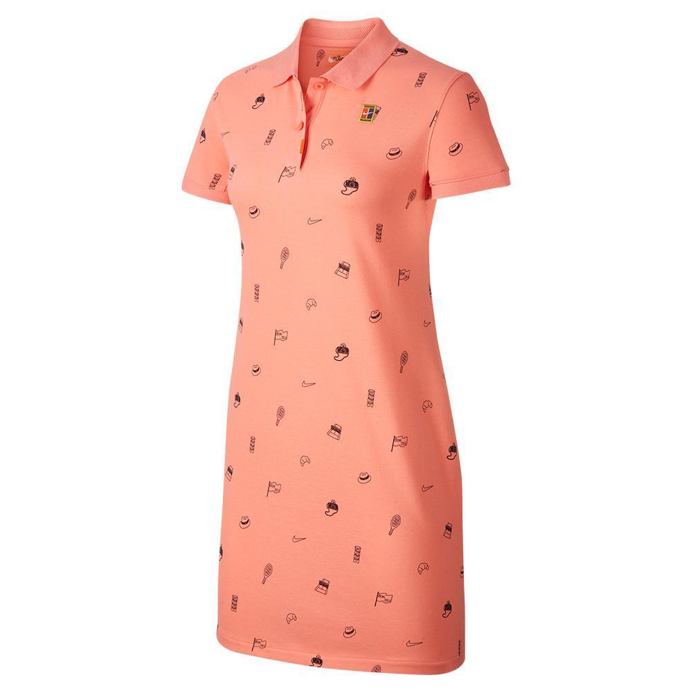 Women's Court Print Tennis Polo Dress