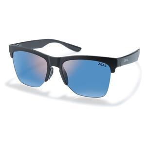 Palisade Polarized Sunglasses Matte Black and Horizon Blue