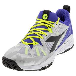 Men`s Speed Blushield Fly 2 Clay Tennis Shoes Royal and Black