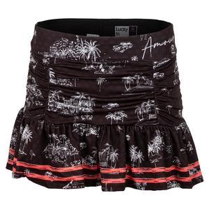 Women`s Amour Ruche Tennis Skort Black