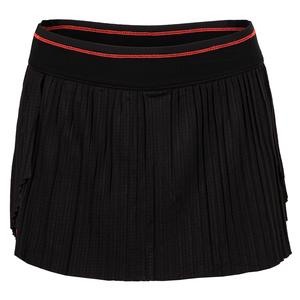Women`s Hi-Brid Pleated Tennis Skort Black