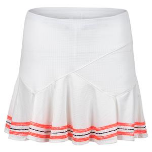 Women`s Long Amour Flounce Tennis Skort White