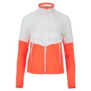 Women`s Bonjour Tennis Jacket Coral and White