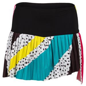 Women`s Hi-Retro Color Block Pleated Tennis Skort