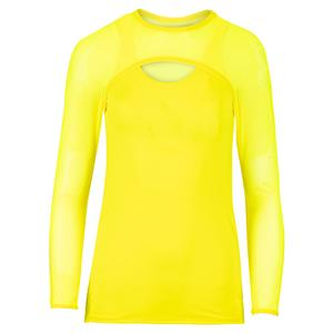 Women`s Delano Mesh Long Sleeve Tennis Top