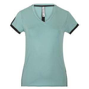 Women`s Claire Short Sleeve Tennis V Neck