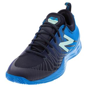 Men`s Fresh Foam LAV D Width Tennis Shoes Vision Blue and Eclipse