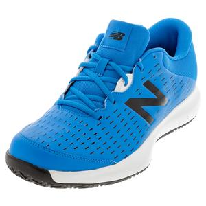 Men`s FuelCell 696v4 D Width Clay Tennis Shoes UV Blue and Pigment