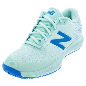 Women`s FuelCell 996v4 B Width Clay Tennis Shoes Bali Blue and UV Blue