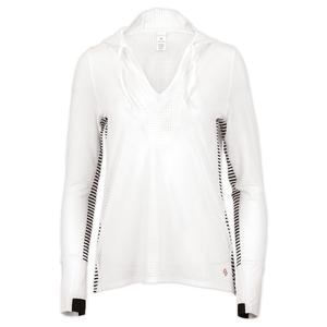 Women`s Cutting Edge Tennis Hoodie White
