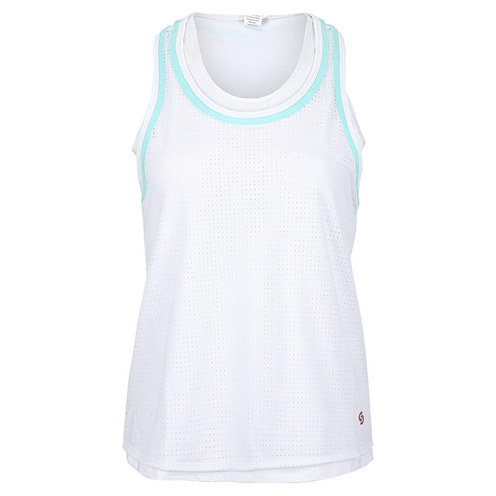 Women's Cutting Edge Tennis Tank White