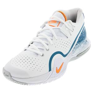 Men`s Tech Challenge 20 Tennis Shoes White and Total Orange