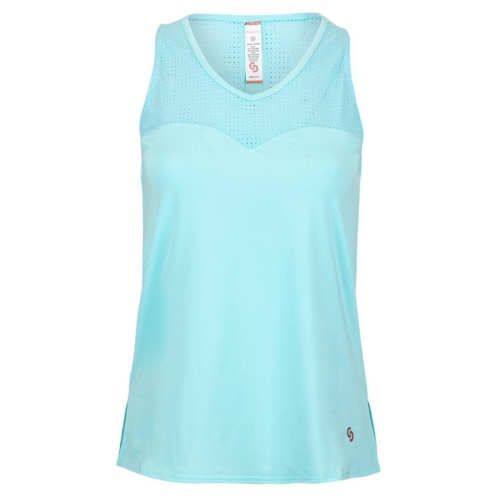 Women's Cutting Edge Tennis Tank Sea Glass
