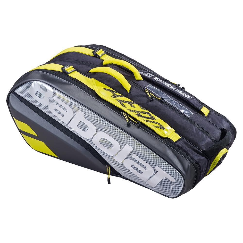 Pure Aero Vs 9 Pack Tennis Bag Black And Yellow