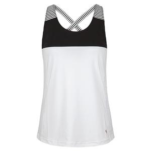 Women`s Cutting Edge Crisscross Tennis Tank White