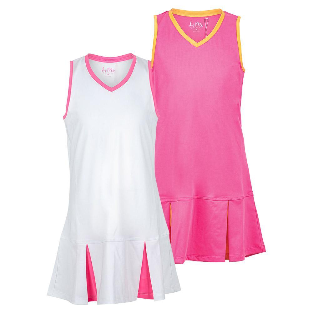 Girls ` Peek A Boo Pleat Tennis Dress
