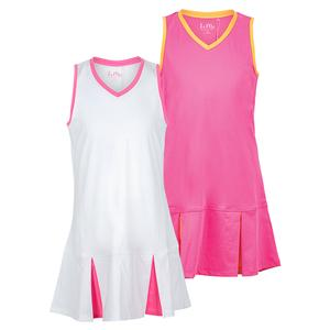 Girls` Peek a Boo Pleat Tennis Dress