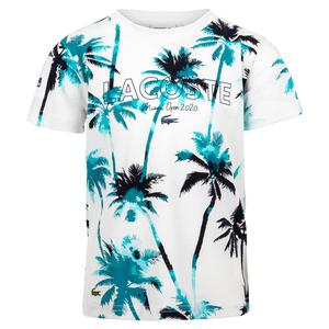 Boys` Miami Open All Over Print Tennis Tee