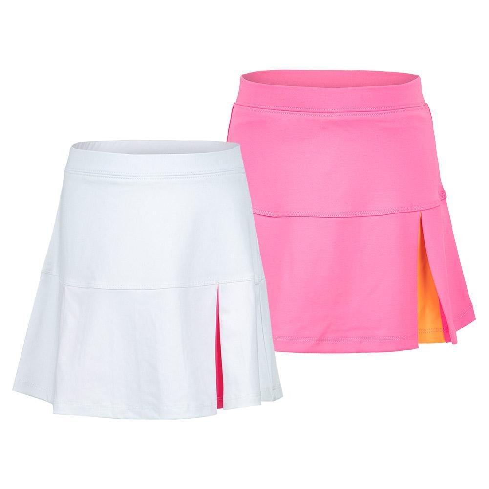 Girls ` Peek A Boo Pleat Tennis Skort
