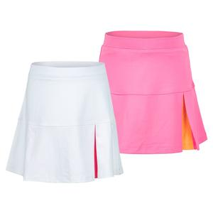 Girls` Peek a Boo Pleat Tennis Skort