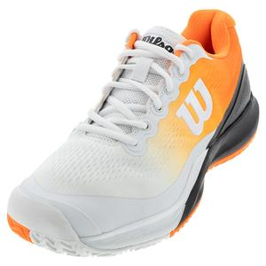 Men`s Rush Pro 3.0 Paris Tennis Shoes White and Shocking Orange