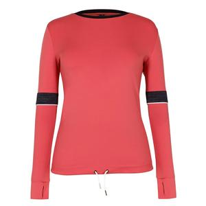 Women`s Whitney Long Sleeve Tennis Top Cherry Rose