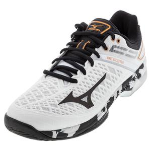 Men`s Wave Exceed Tour 4 AC Tennis Shoes White and Black