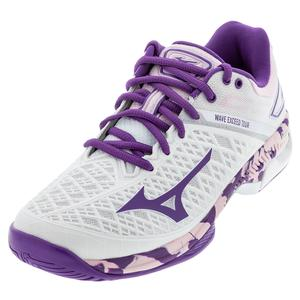 Women`s Wave Exceed Tour 4 AC Tennis Shoes White and Purple