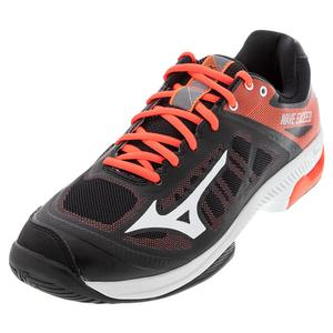 Men`s Wave Exceed SL AC Tennis Shoes Black and White