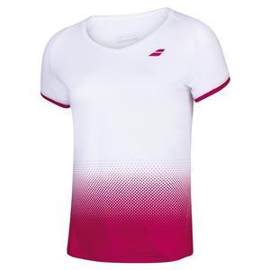 Girls` Compete Cap Sleeve Tennis Top