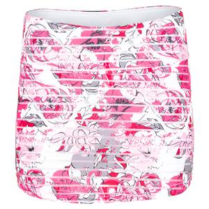 Women`s English Rose Tennis Skort Print
