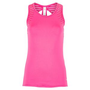 Women`s English Rose Tennis Tank Pink Passion