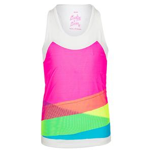 Girls` Mesh Layer Tennis Tank